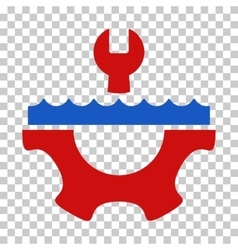 Water service gear icon vector