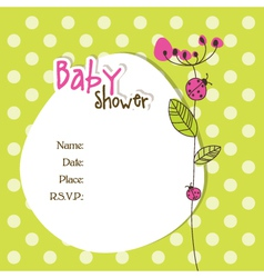 Baby shower car vector image