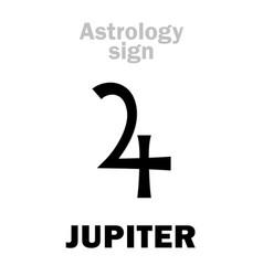 Astrology planet jupiter vector