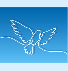 Flying pigeon logo vector