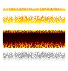 Fire on white vector