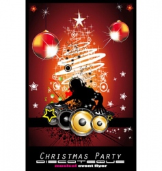 Christmas party vector image