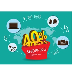 Big sale shopping around the world vector