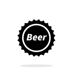 Beer bottle cup simple icon on white background vector