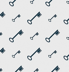 Key icon sign seamless abstract background with vector