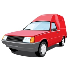 Red pickup vector