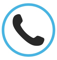 Phone receiver flat rounded icon vector