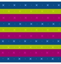 Striped background with a simple ornament vector image