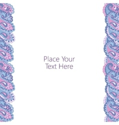 Abstract paisley border vector