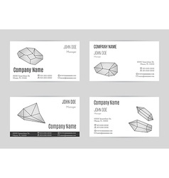Set of business card templates vector