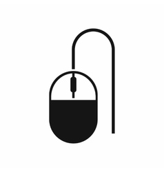 Computer mouse icon simple style vector