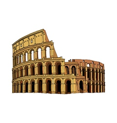 A view of colosseum vector