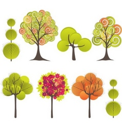 abstract tree vector illustration vector image vector image
