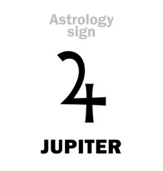 Astrology planet jupiter vector