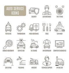 Auto service icons set of pictogram vector