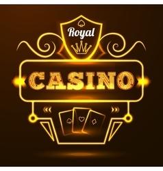 Casino Neon Sign vector image vector image