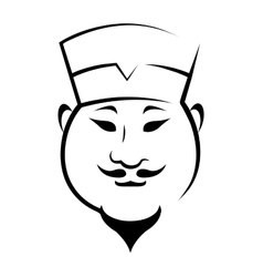 Chinaman wearing a hat vector image