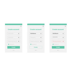 create new account form vector image