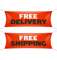 Free delivery and free shipping banners vector