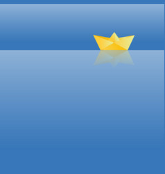 Gold paper boat vector