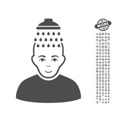 Head shower icon with bonus vector