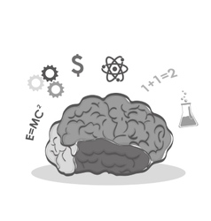 Human organ science and brain icon vector