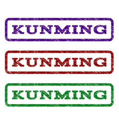 Kunming watermark stamp vector