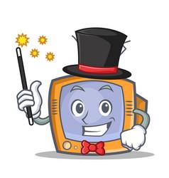 magician tv character cartoon object vector image