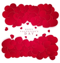 Many red hearts isolated on white background vector