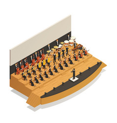 Orchestra isometric composition vector