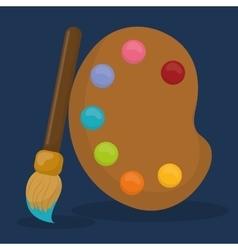 Paint palette art icons vector