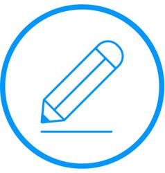 Pencil line icon vector