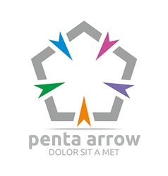 Penta arrow design icon symbol star vector