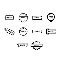Printthin line free icon set vector