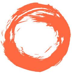 red brushstroke circular shape vector image vector image