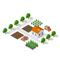 rural landscape elements vector image