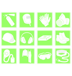 Set of icons personal protection equipment vector