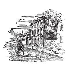 The presidents house in philadelphia 1794 vintage vector