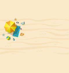 top view of beach resort with summer accessories vector image