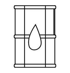 Transport tank for oil icon outline style vector
