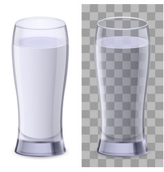 two glasses of water on white background for vector image vector image
