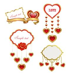 Valentines design elements vector