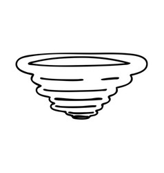 Whirlwind black icon vector