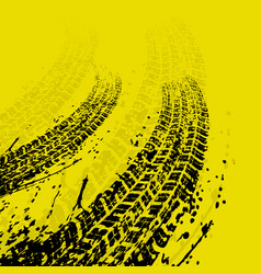 Yellow warp tire track background vector