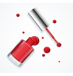 Red nail polish vector