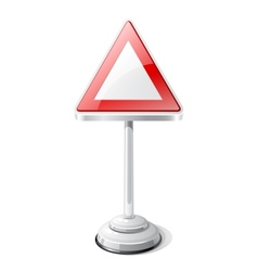 Warning road traffic sign isolated on white vector