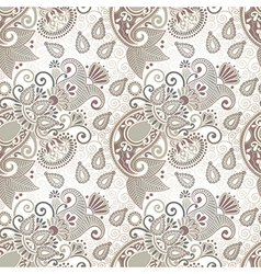 Ornate seamless flower paisley design vector
