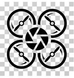 Shutter drone icon vector