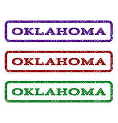 oklahoma watermark stamp vector image
