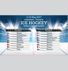 Ice hokey world championship 2017 vector
